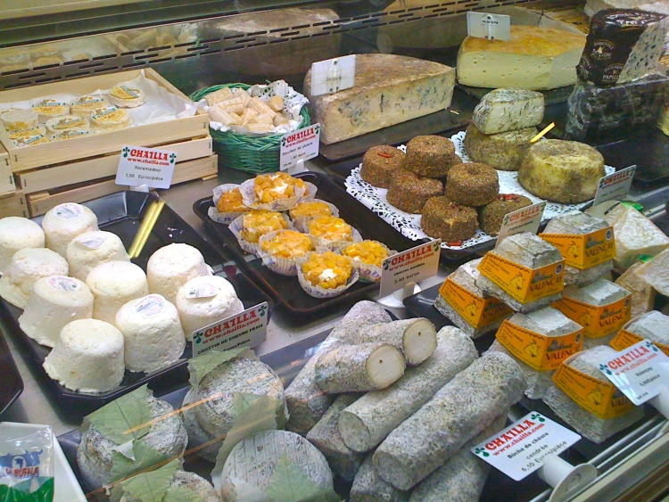 France Food Markets- Biarritz- Dairy Products Galore