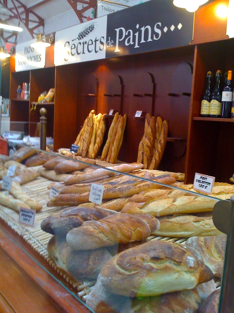 France Food Markets- Biarritz- Fresh Breads Galore
