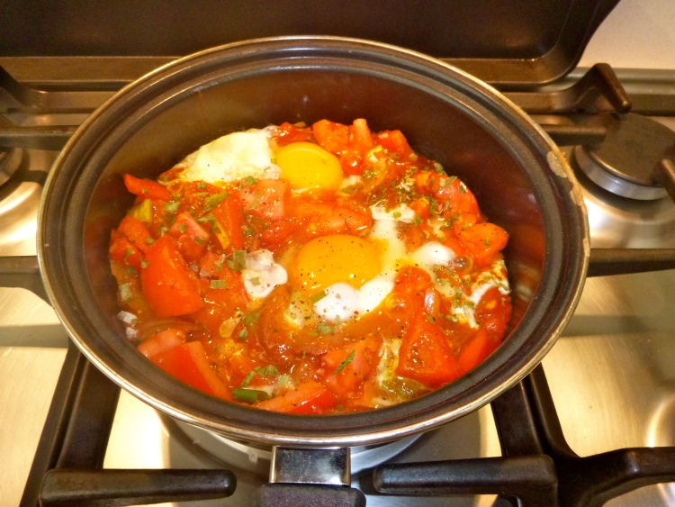 Travelling Dietitians home made baked eggs