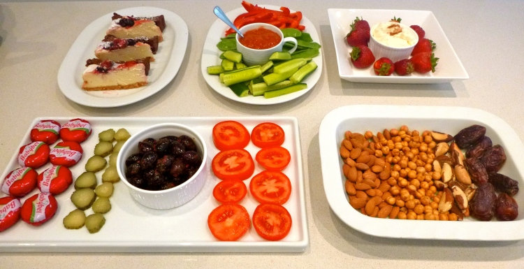Healthy christmas food platter