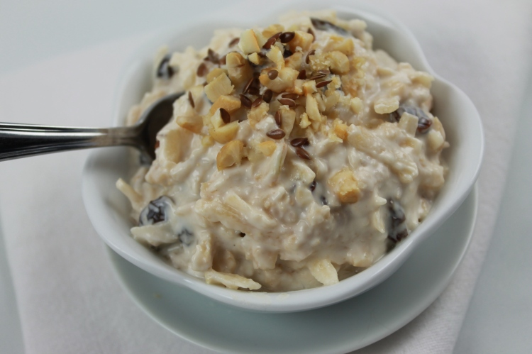 "Amazing bircher muesli that is high in fibre and protein from the recipe my book ""The Clean Separation"""