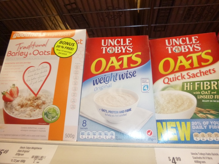 Range of 'boosted' oats, check the ingredients list, they are not all as 'natural' as each other.
