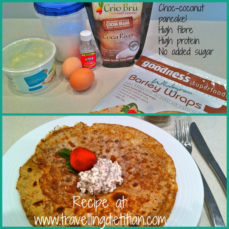 Travelling Dietitians high protein high fibre breakfast recipe