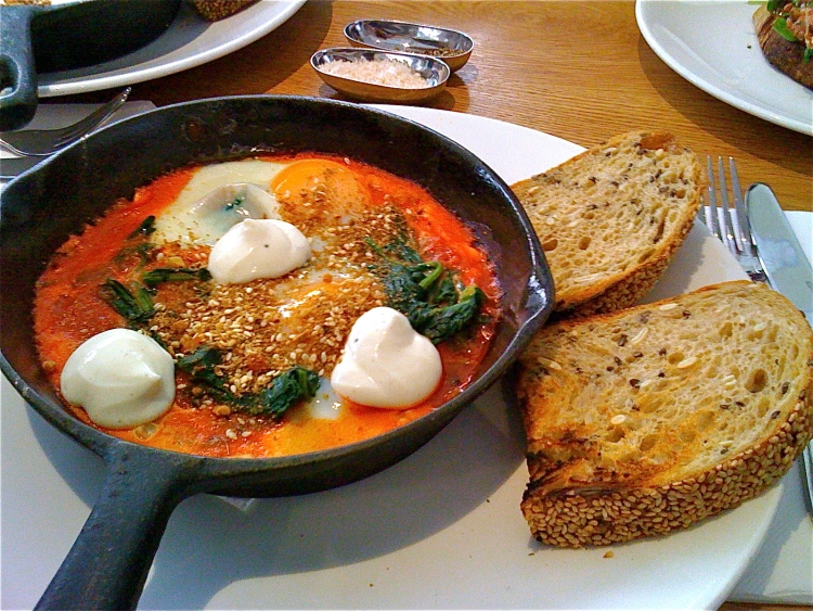 Baked eggs you may find out at a cafe