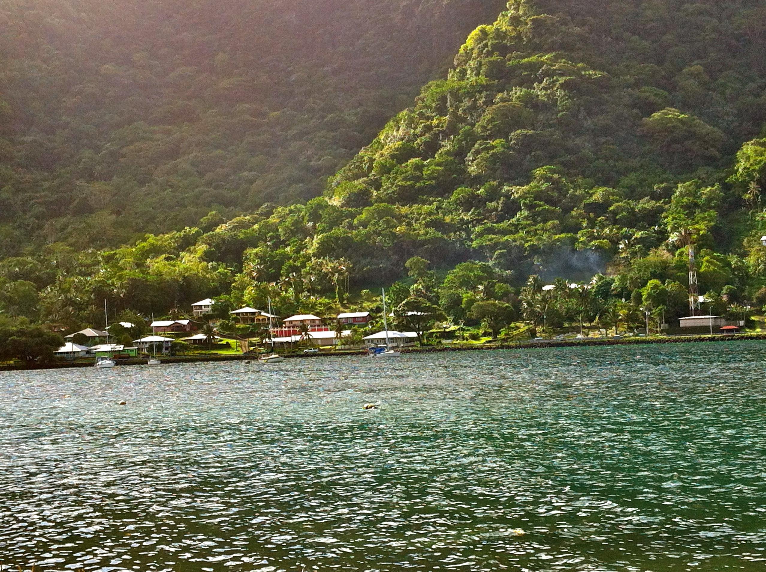 American Samoa - beautiful  green areas around the island, travelling dietitian.