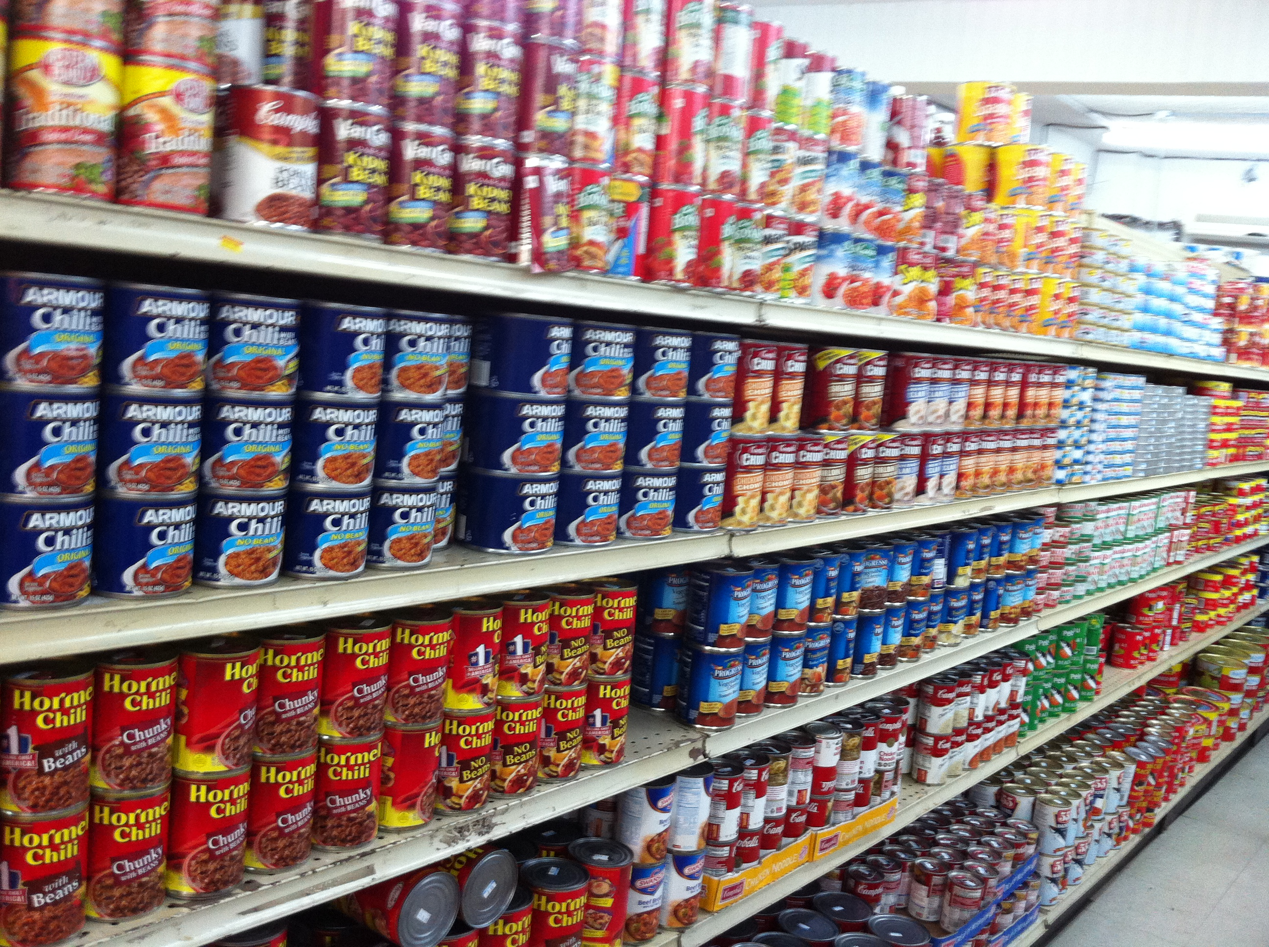 canned food galore