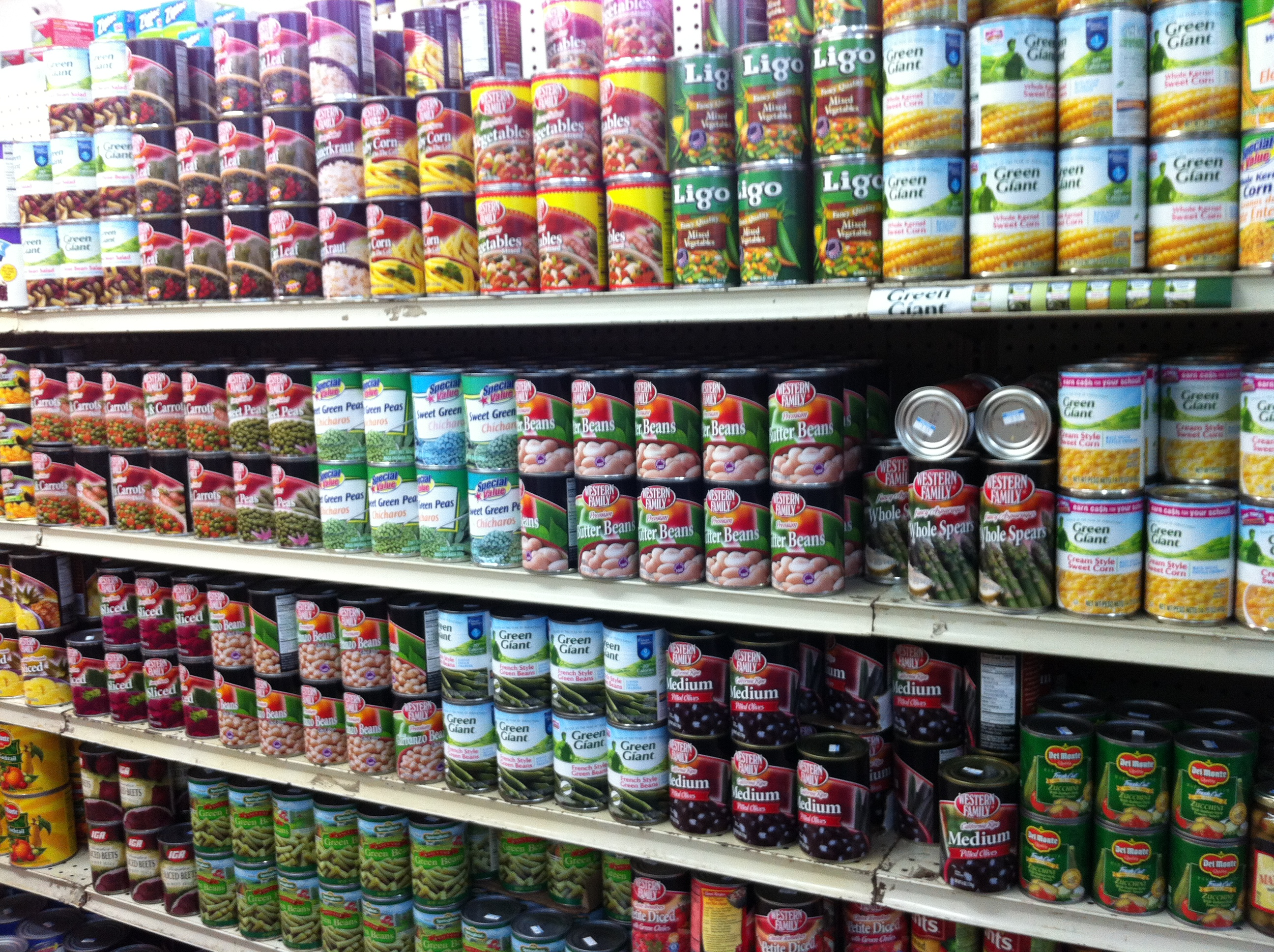 canned food galore in American Samoa