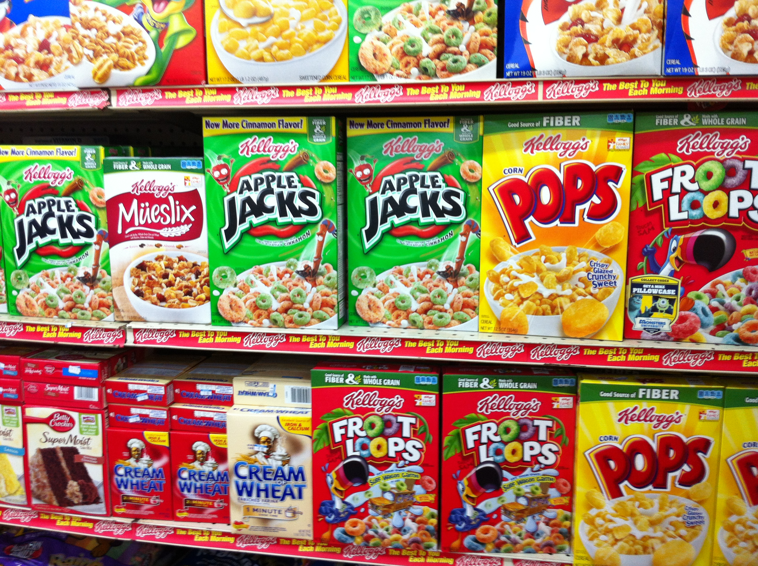 Unhealthy cereals galore with claims about being rich sources of vitamins or minerals because they have been fortified
