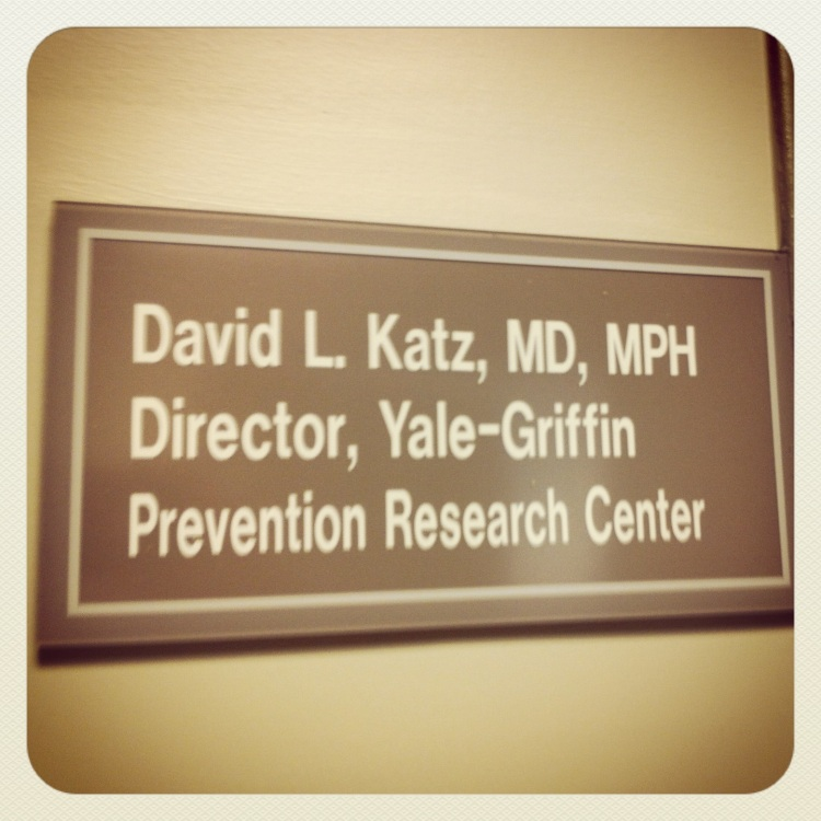 Outside Dr David Katz's office in CT