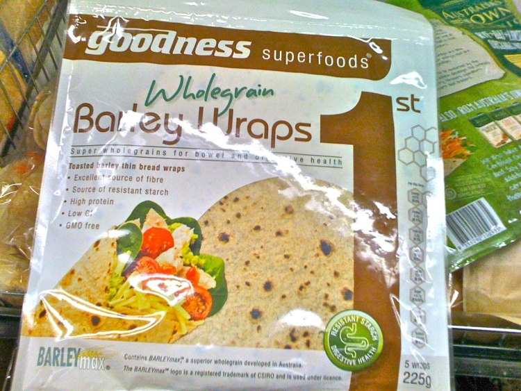 BARLEYmax wraps by Goodness Superfoods are high in fibre and low GI
