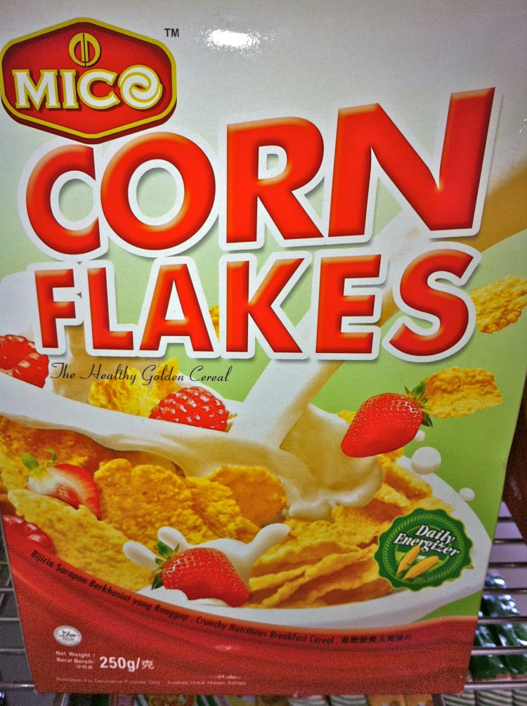 An example of the corn flakes I found in American Samoa