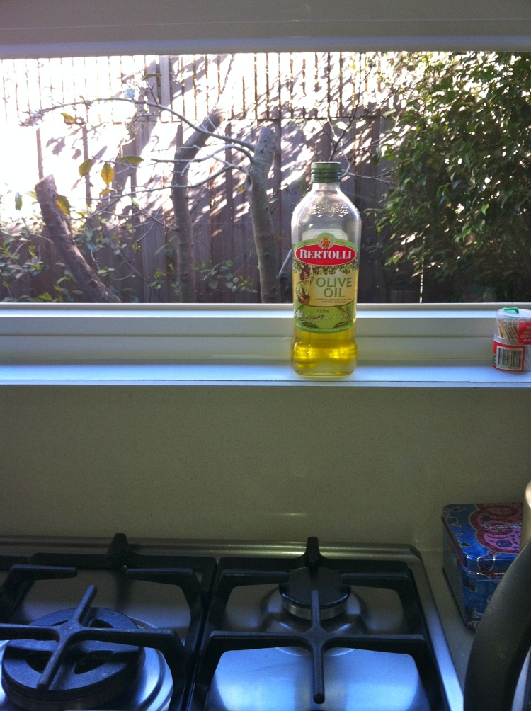 An example of where not to store your olive oil