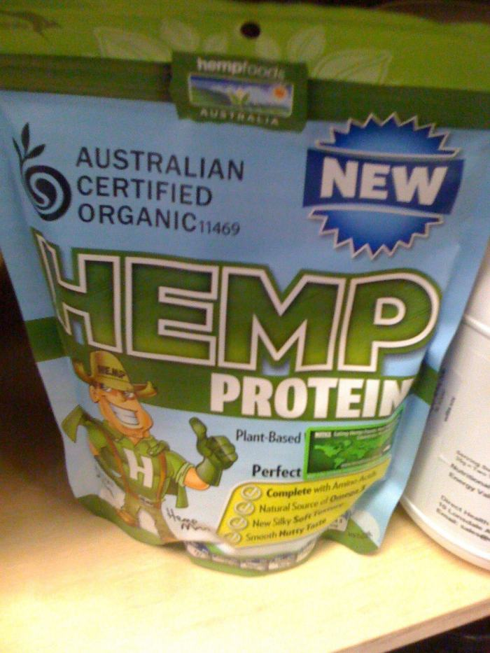 Hemp protein powder available in Australia at some health food stores and online.