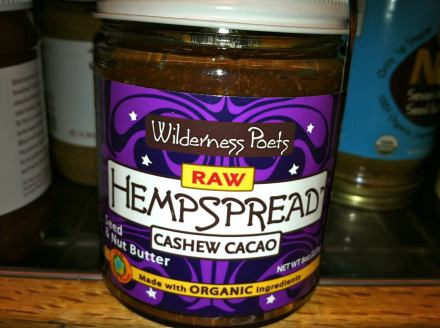 Cashew and hemp seed spread available in the USA