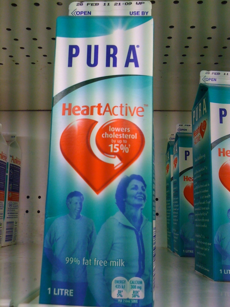 pura heart active milk fortified with plant sterols