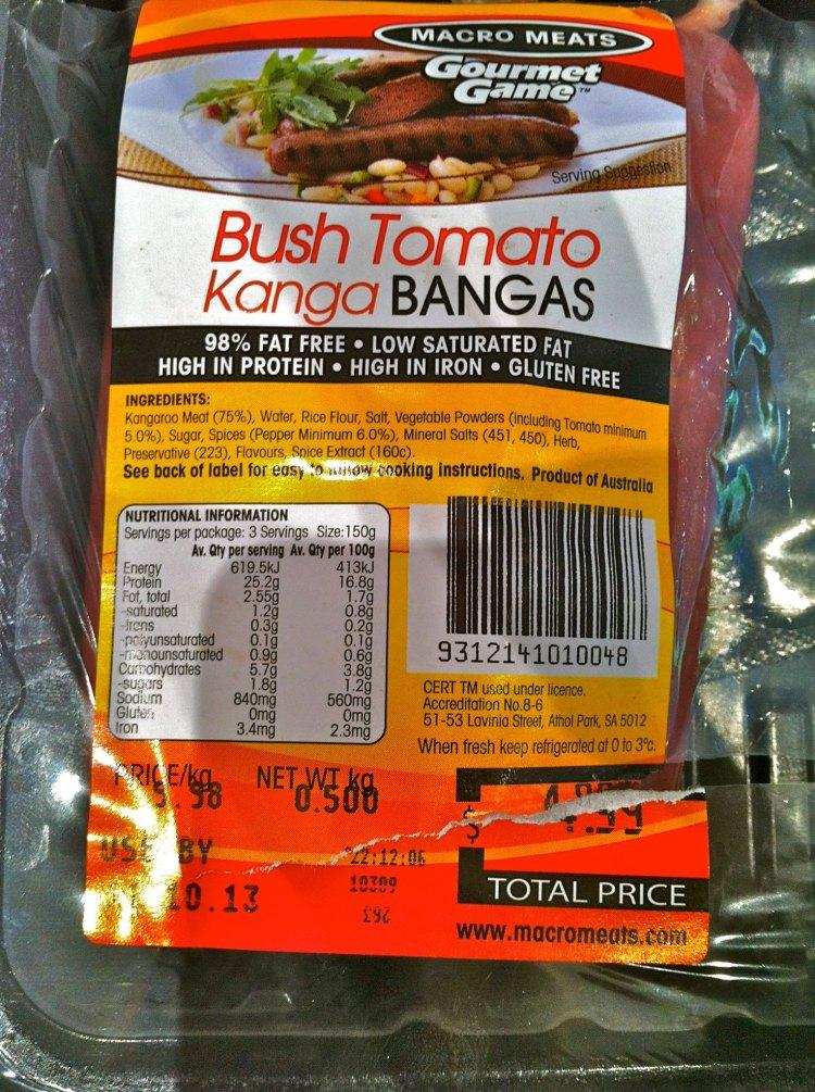 kanga bangas nutrition