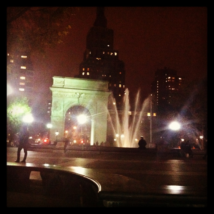 washington square park around the corner from my home..I like it here!