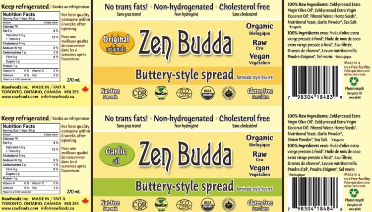 nutrition spread raw foodz