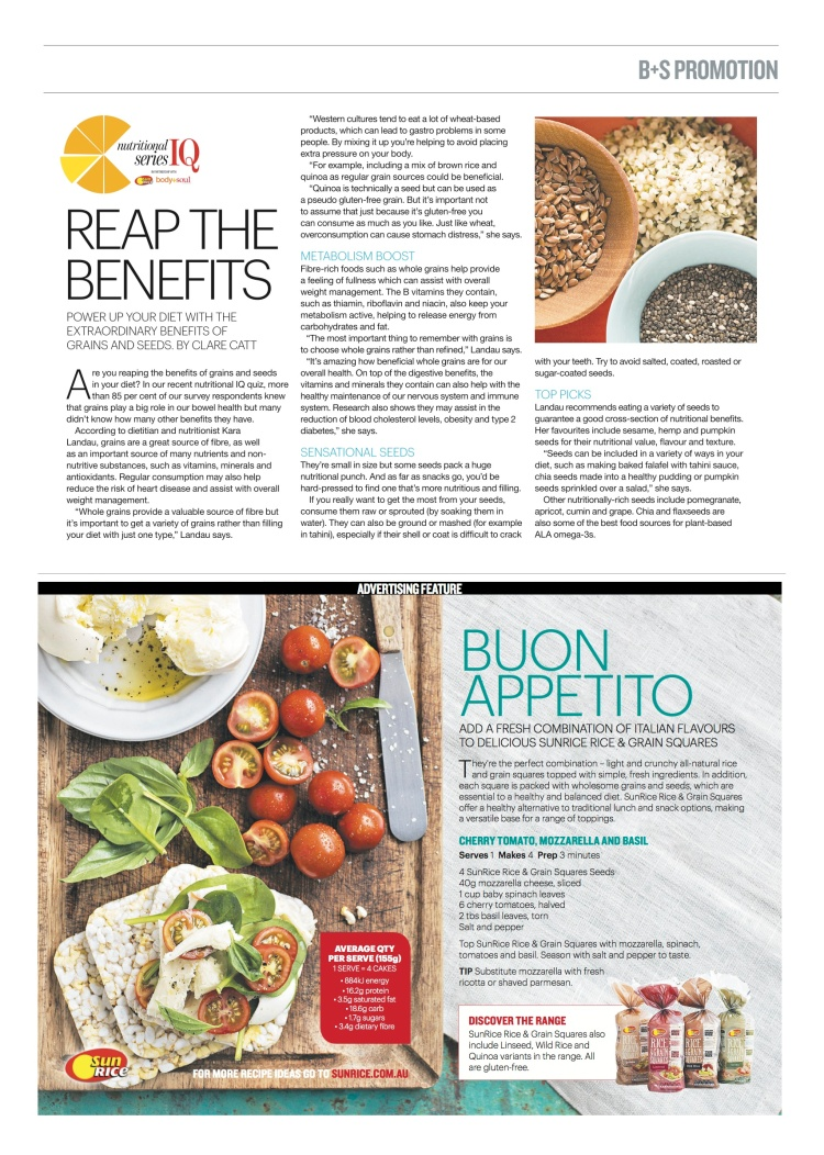 One of my recent Body+Soul editorials on which seeds to include in your diet.