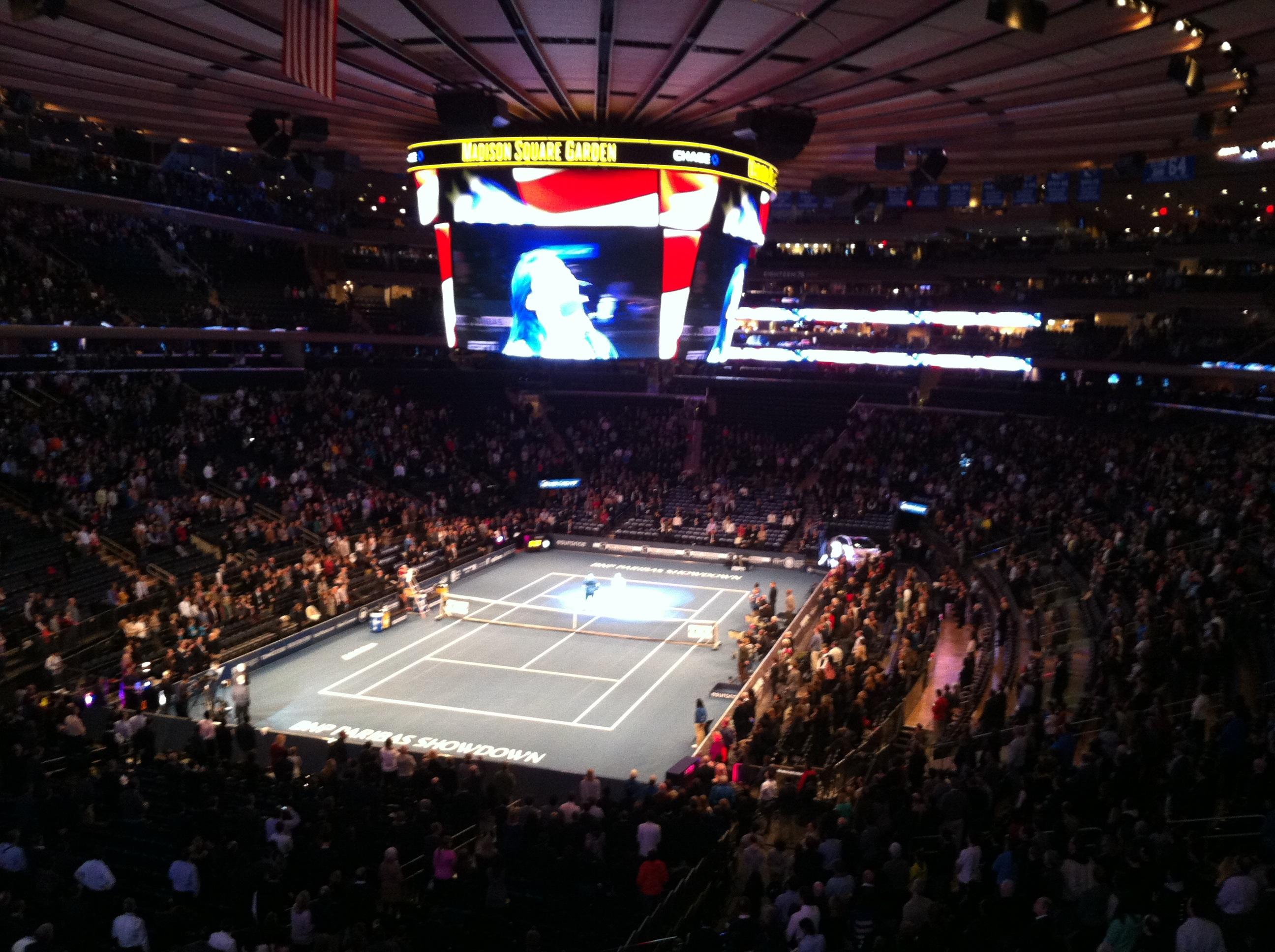 World Tennis Day at Madison Square Garden watching Andy Murray vs Novak Djokovic…standard Monday night, right?