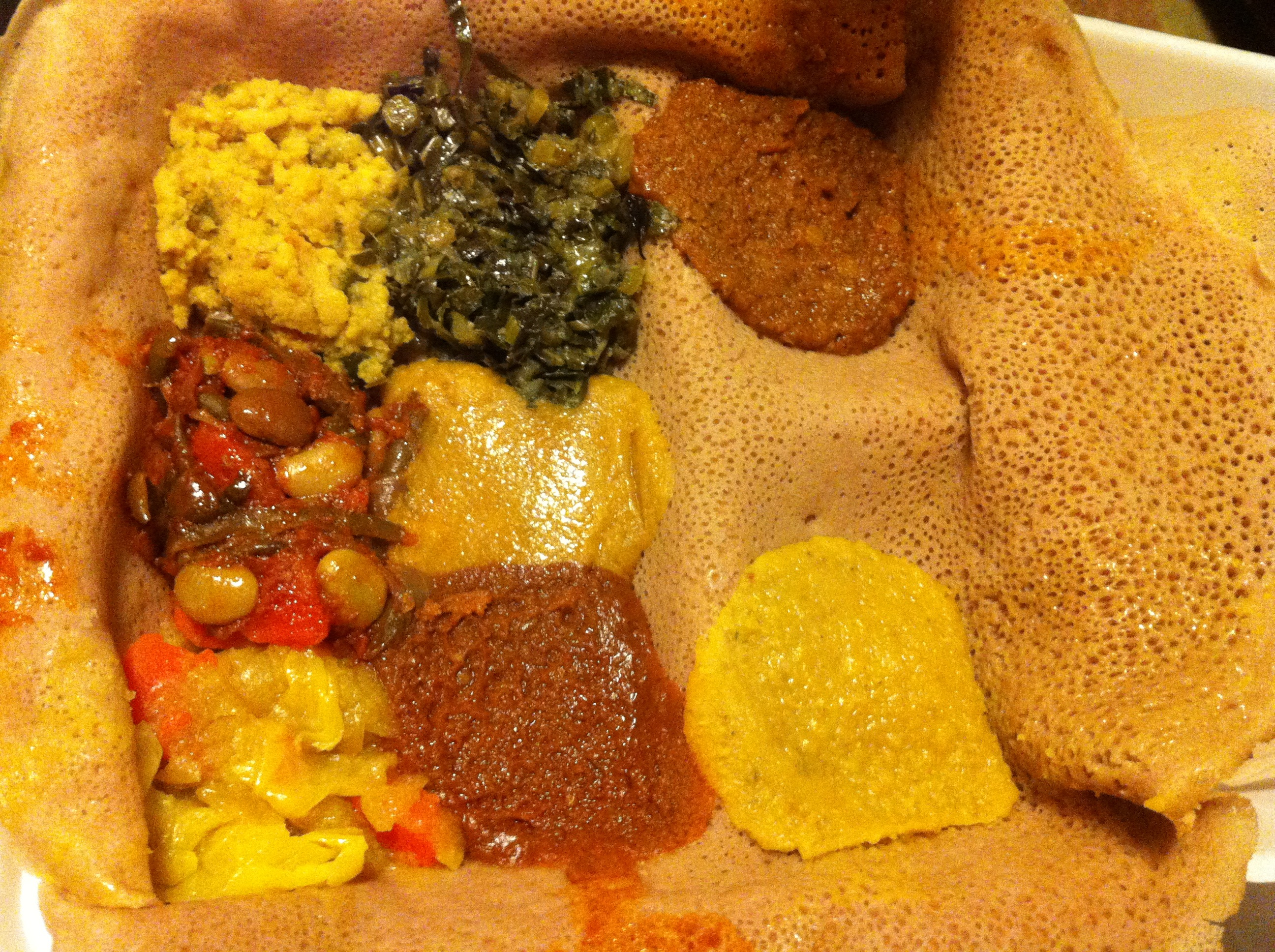 Ethiopian cuisine in NYC - part of my new mission of trying a different cuisine each week and making my way around the globe (even if literally from this one island!)