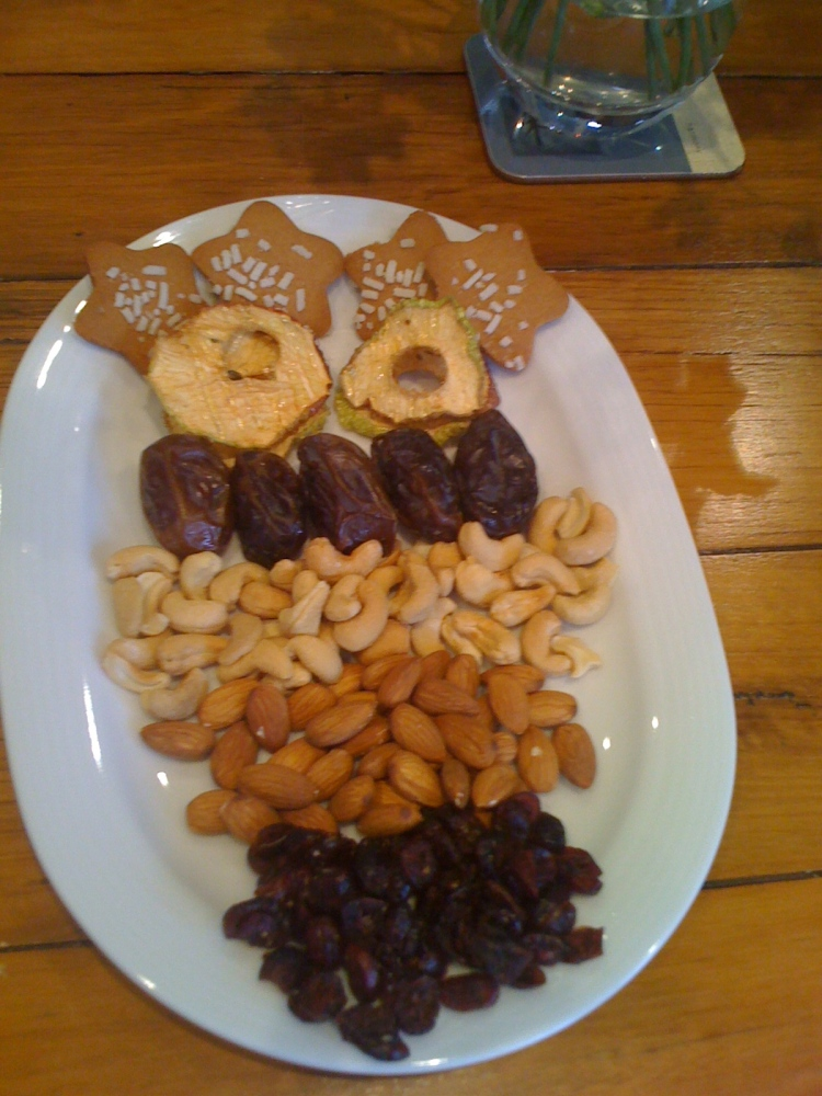 Getting creative with nuts and dried fruit to keep it interesting for guests!