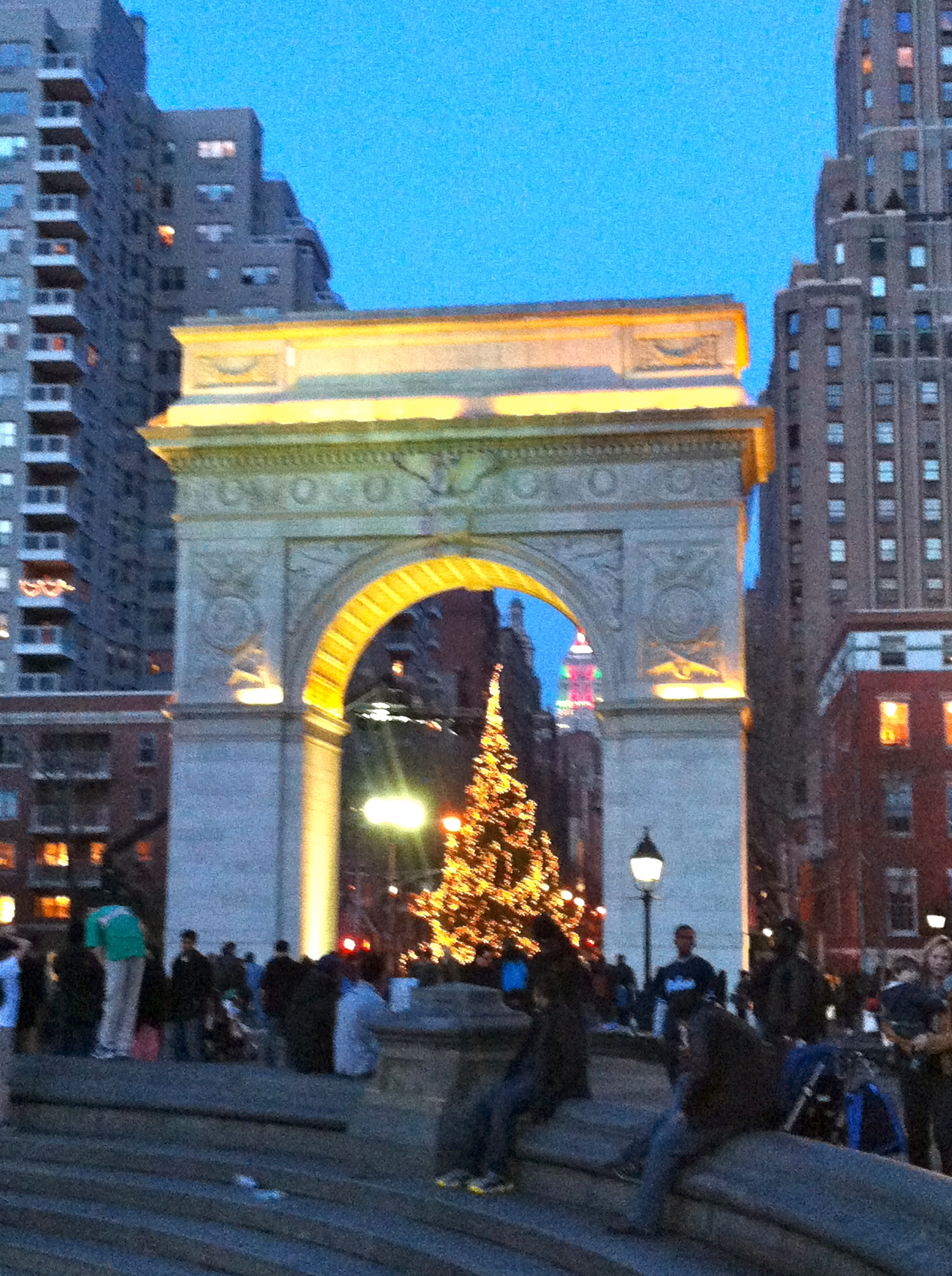 """My new home, Greenwich Village, has this great """"garden"""" Washington Square, literally steps from my doorstep."""