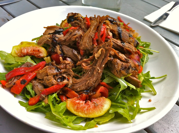 Pulled lamb salad from coin laundry in Melbourne..wow!