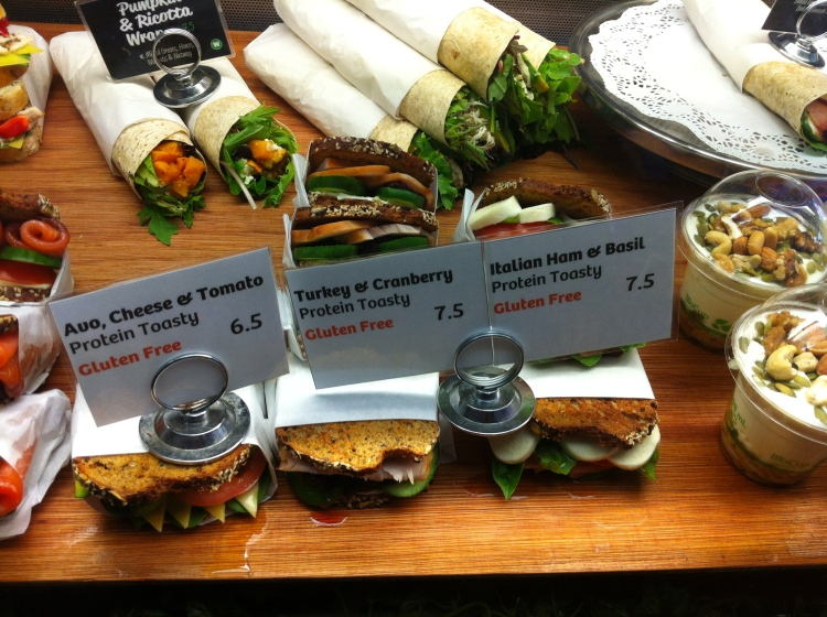 Whole meal cafe in Sydney had an array of high protein, gluten free, and just generally healthy options!