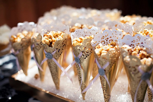 Why not make all natural popcorn fresh from the kernels on your stove top and dress them up in gold packaging for the festive oscar spirit!