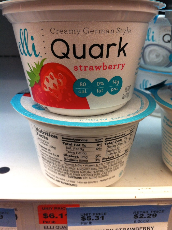 elli quark is a great high protein yoghurt alternative that is european style.