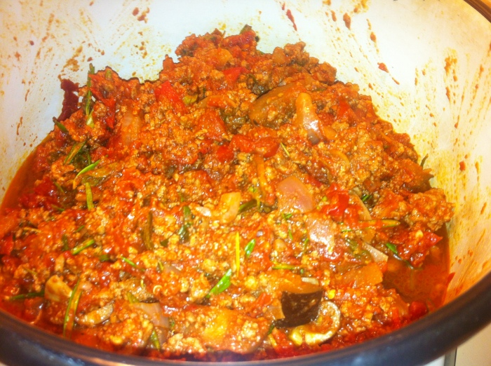 Bolognese with veggies mixed through went down a treat with the guests.