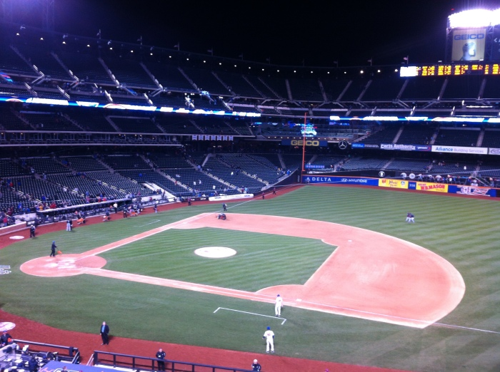 My first experience cheering on the Mets at Citi field..awesome venue.