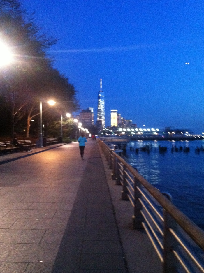hudson river at night which is nice to walk around