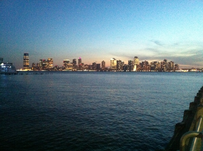 Hudson river is gorgeous to walk around in the evening.