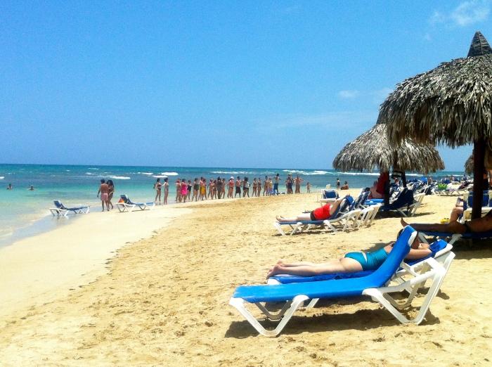 Dominican republic beach in Samana, so nice.
