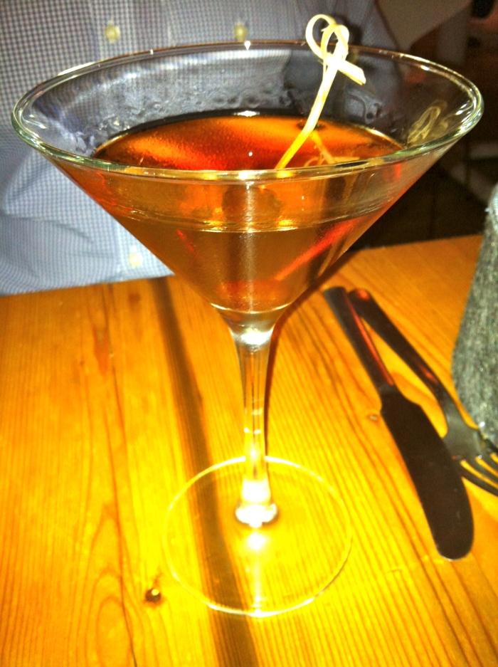 Danish Manhattan cocktail
