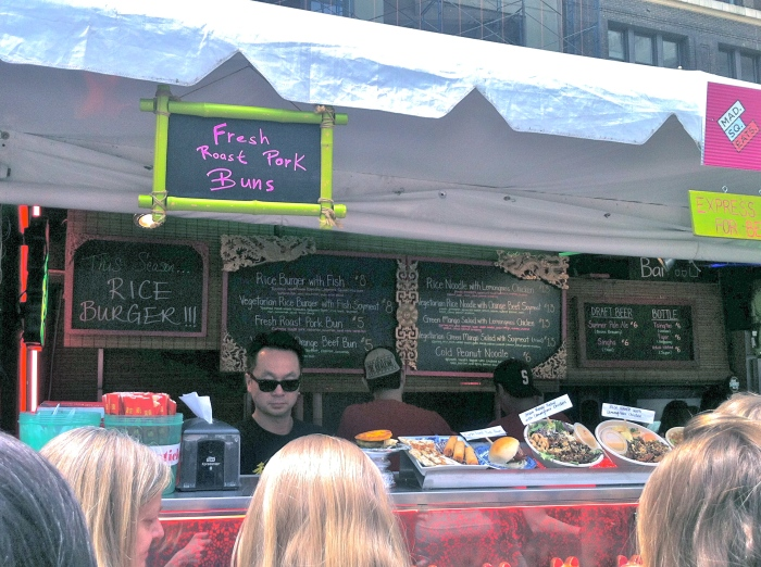 Madison square park eats is packed every day!