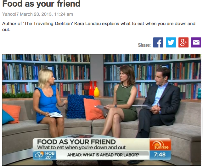 "Kara Landau promoting her published book ""The Clean Separation"" on national television."