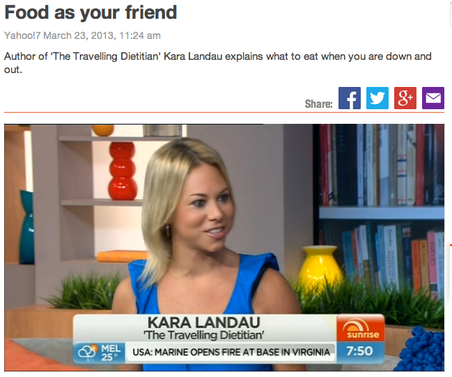 "Kara Landau on national television promoting the release of her new book ""The Clean Separation"""