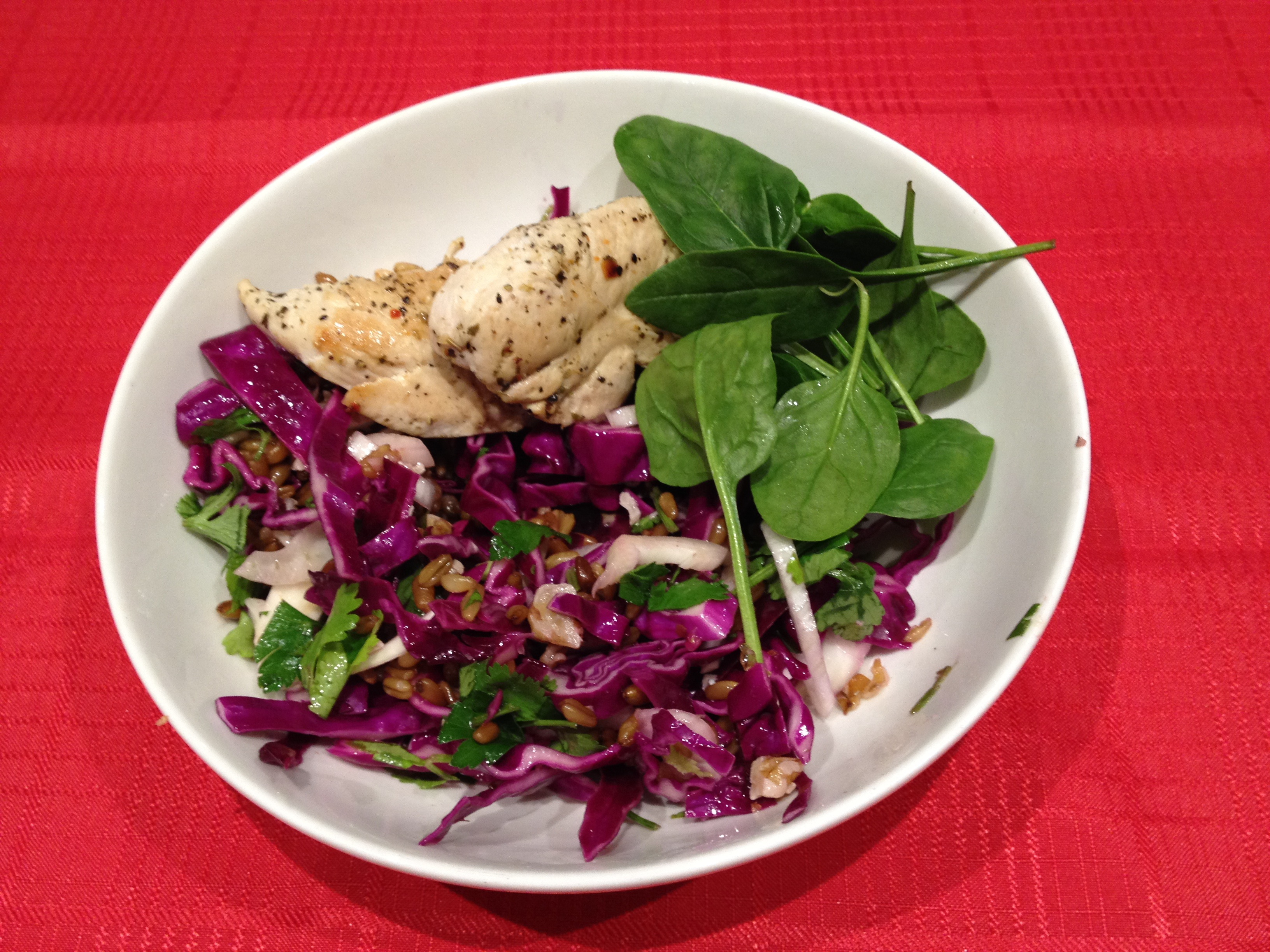 Freekeh used in a meal