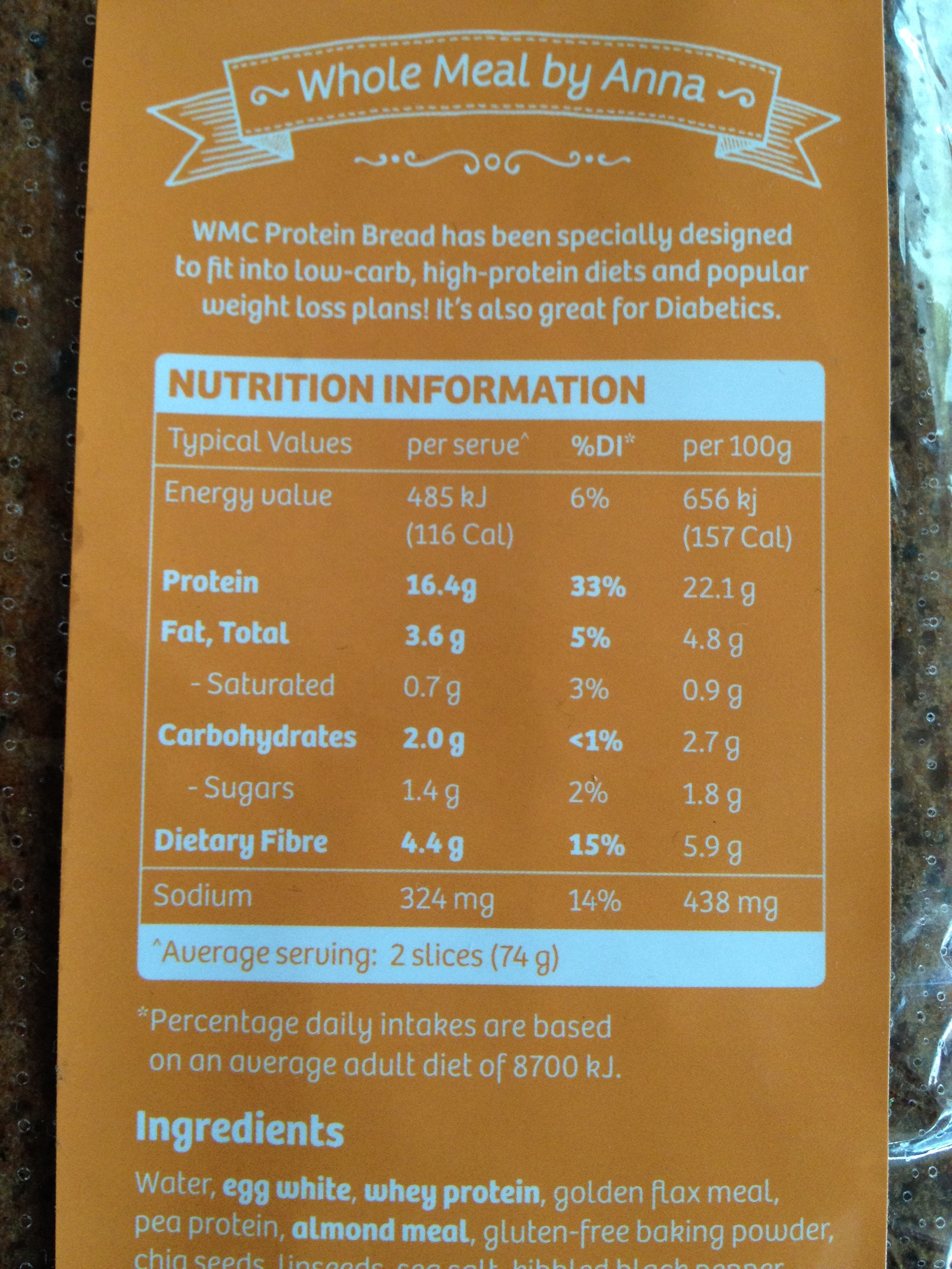 High protein and fibre bread in Australia