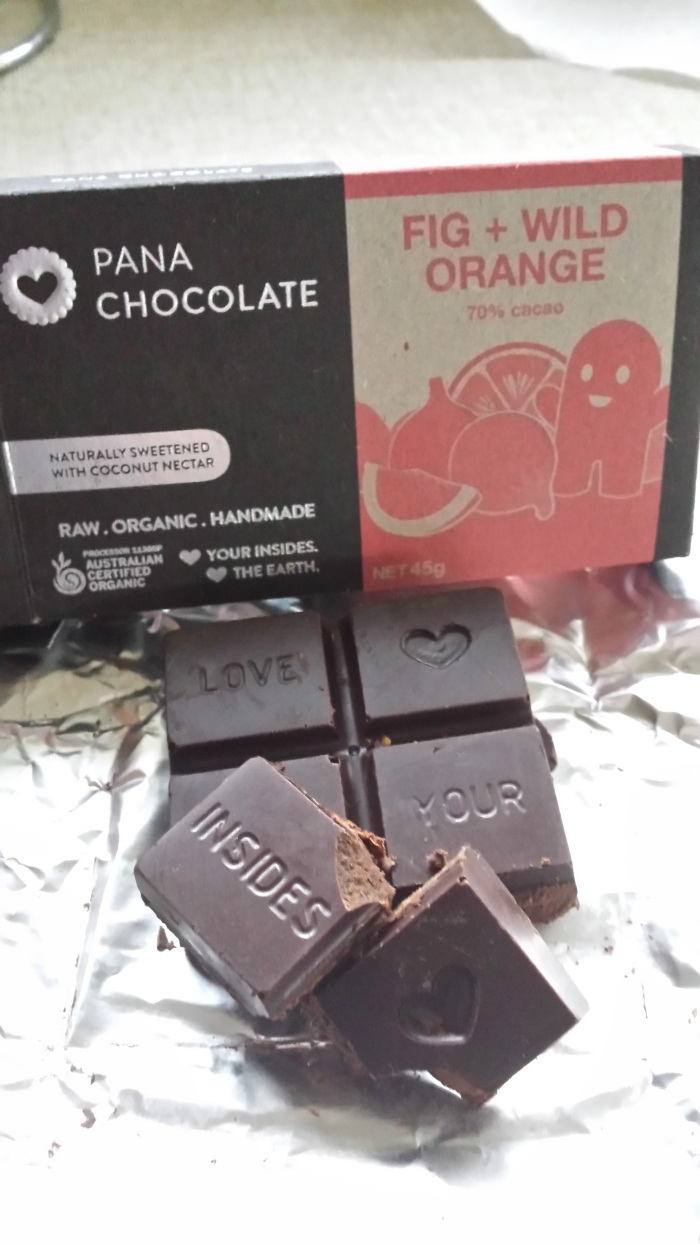 Pana chocolate - refined sugar free - sweetened with agave or coconut nectar.