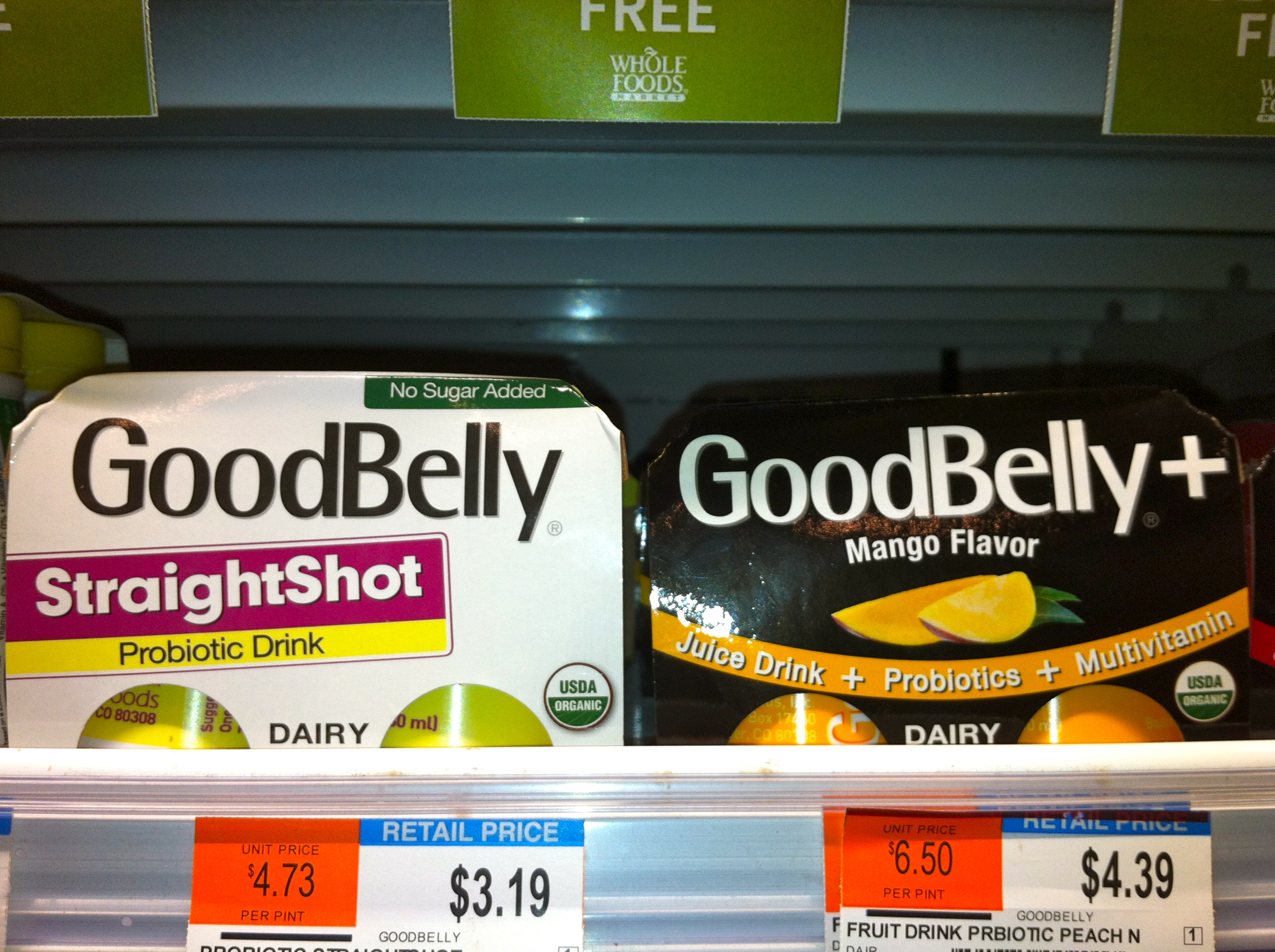probiotic food shots in the USA