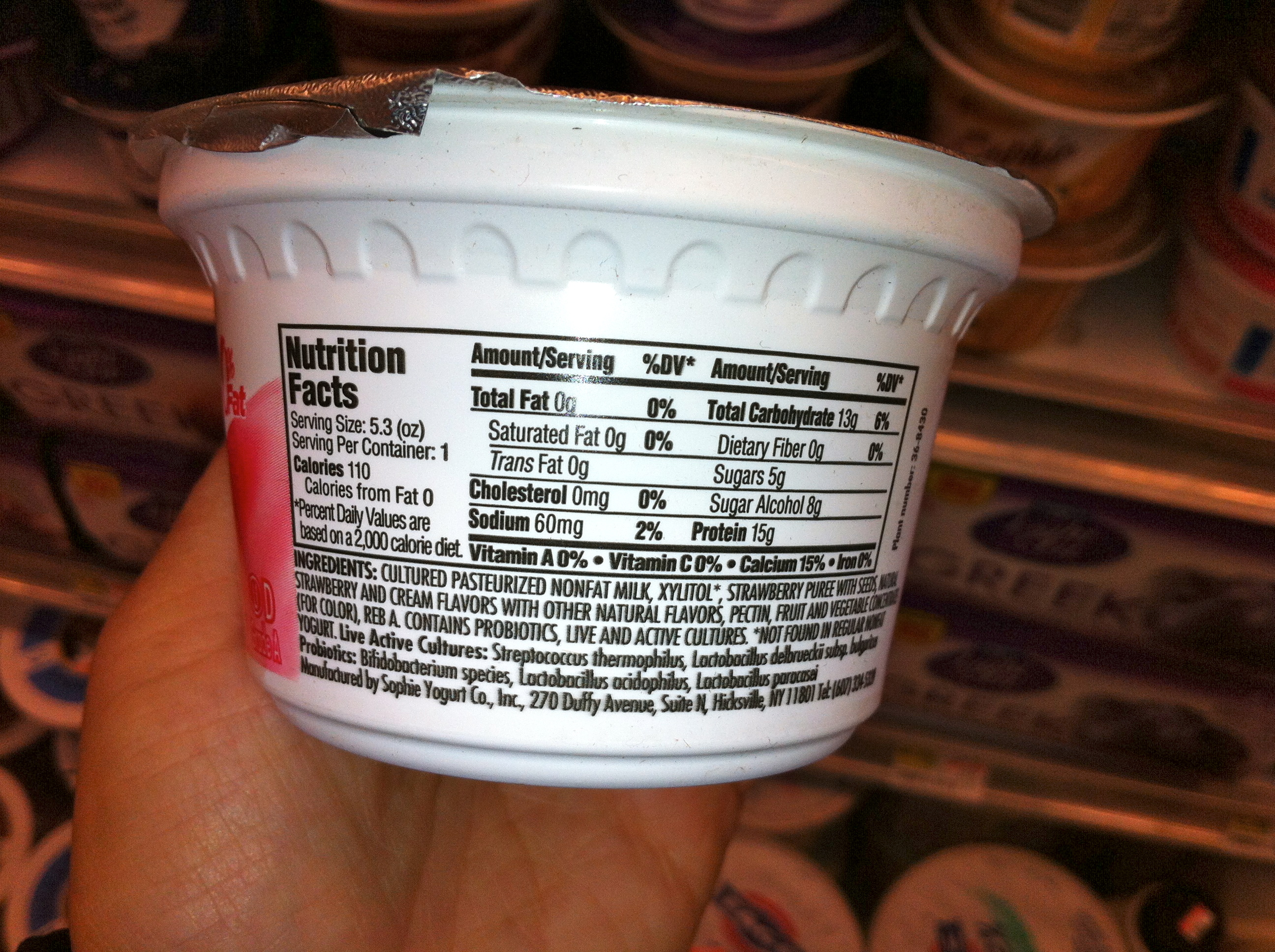 sophies yogurt nyc no artificial sweetener natural