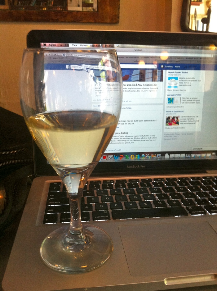 I may have added in a glass of wine on this particular day whilst I finished up my work!