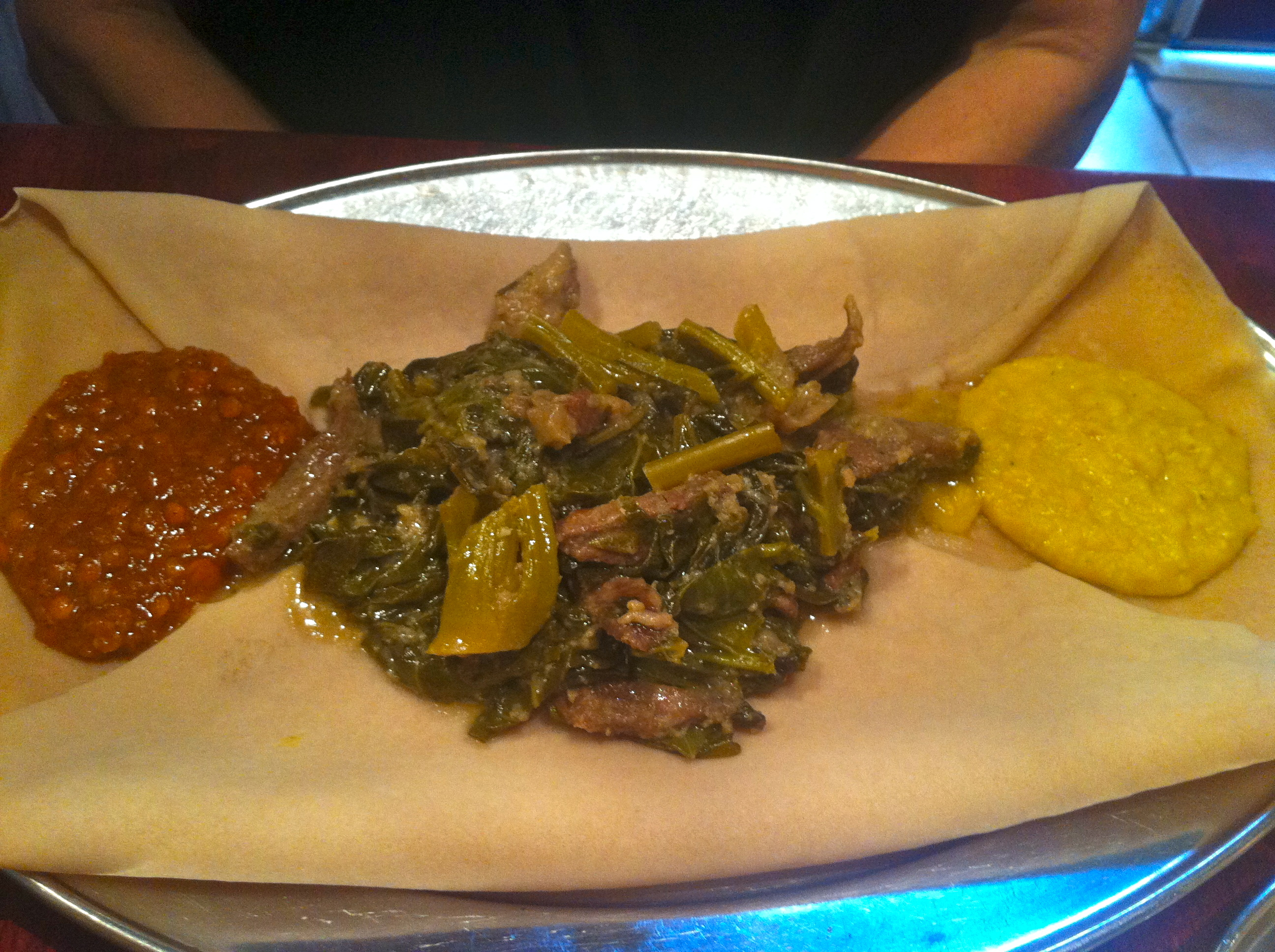 Ethiopian food - one of my favourites - prebiotic rich meal!