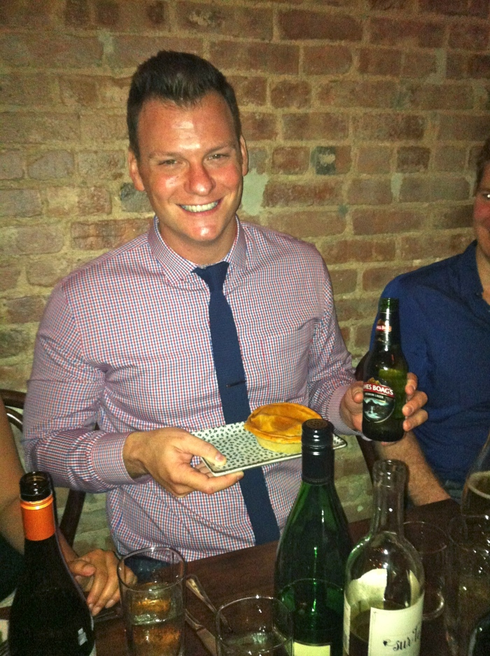 Birthday celebrations - Aussies getting a meat pie and a beer prepared randomly by a Thai chef at a Thai restaurant?!