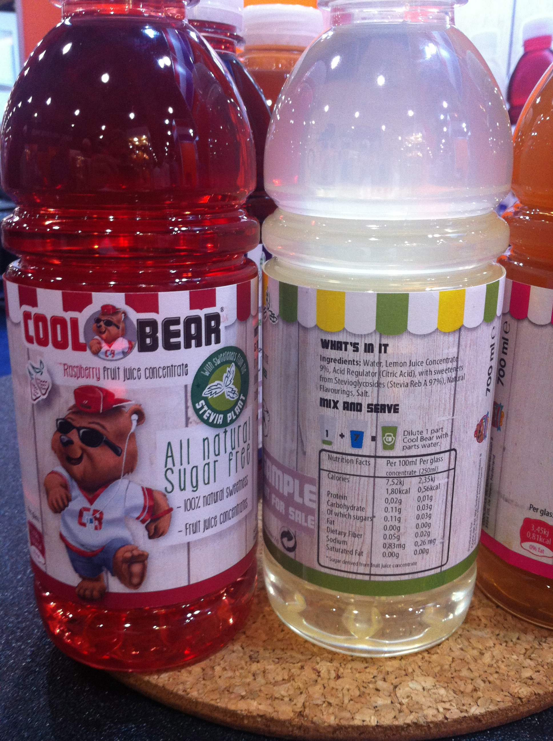 Cool bear naturally sweetened flavoured waters for kids