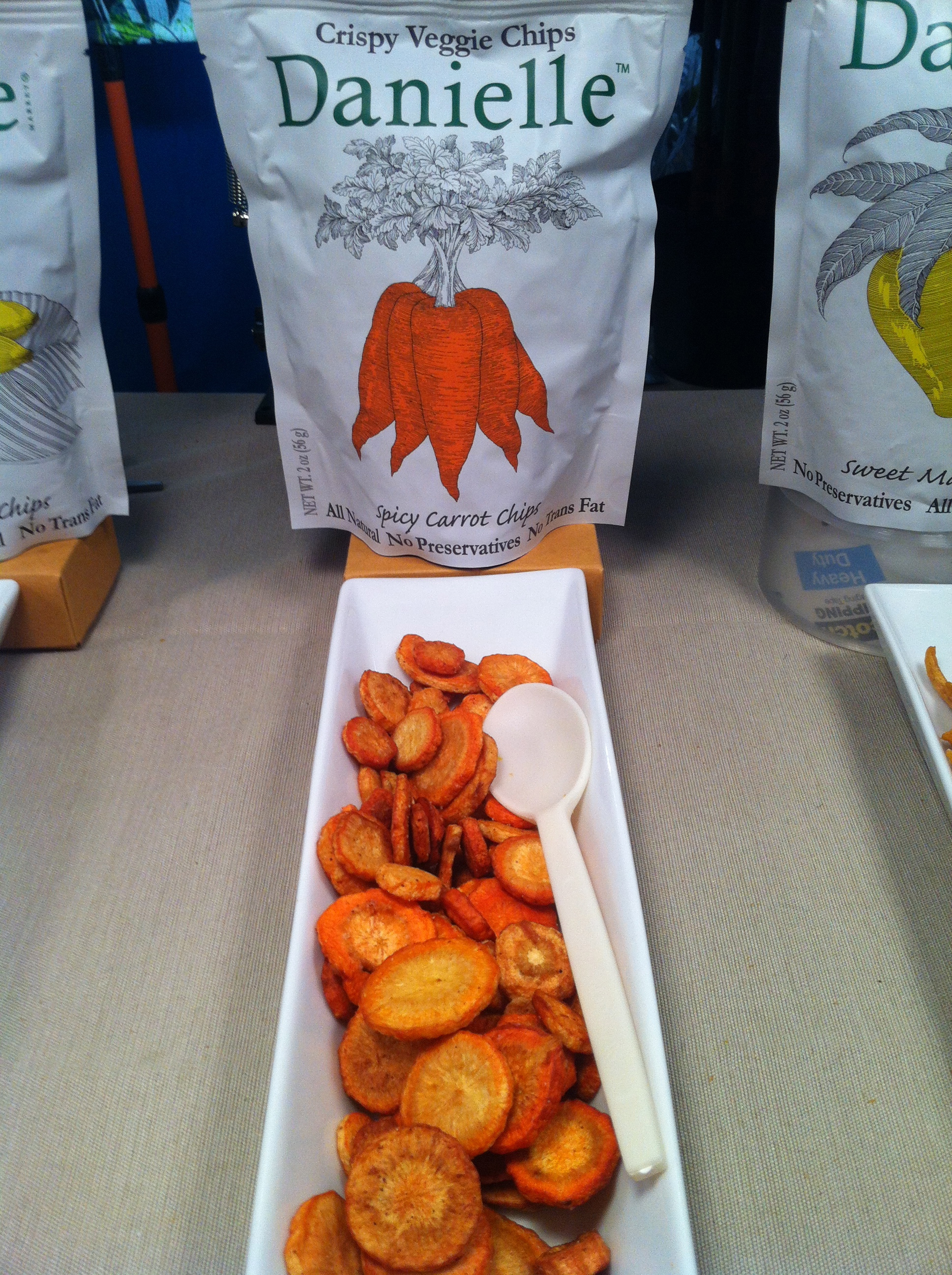 Great range of real vegetable chips from Danielle
